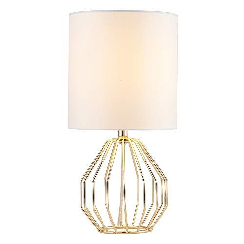 Cotulin Table Lamp Gold Lamps For Bedroom Nightstand Modern Hollowed Out Base Small Table Lamp With White Fabric Shad Small Table Lamp Table Lamp Lamp