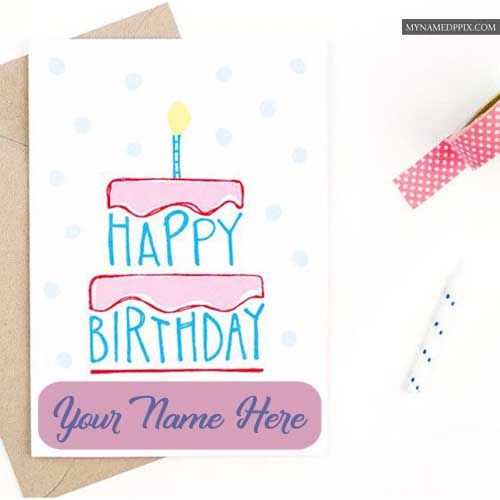 Son Birthday Wishes Greeting Card Write Name Image Online My Name Pix Cards Happy Birthday Card Design Birthday Card Design Birthday Wishes For Mom