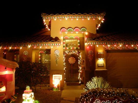 Gingerbread house we decorated the outside of our house for House look from outside