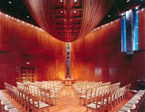 Glavin Family Chapel at Babson College in Wellesley, MA by William Rawn Associates