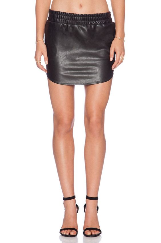 Vegan Leather Baseball Skirt