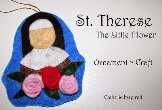 St. Therese the Little Flower Craft {Liturgical Ornament} ~ Catholic Inspired