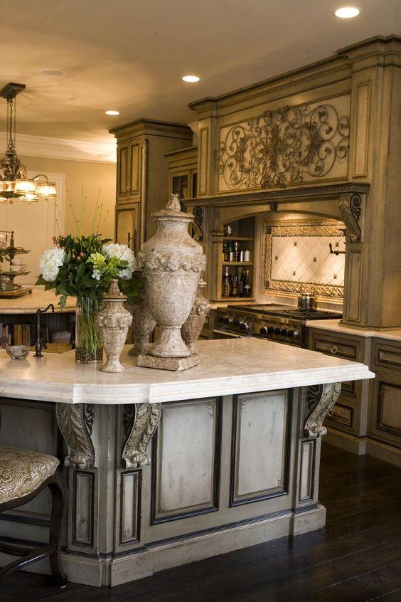 French style - Habersham Custom Kitchen Cabinetry