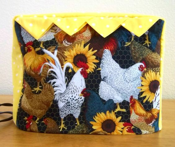 Two slice Fabric Toaster Cover by PatsysPatchwork on Etsy, $16.00