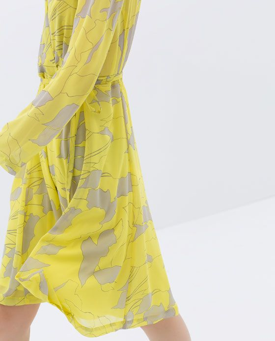 ZARA - WOMAN - PRINTED CROSSOVER DRESS