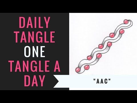 Daily Tangle Aac How To Draw Youtube Kritzeleien Muster Lernen