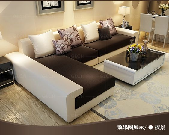 Robinson grid size fabric sofa combination of modern apartment living room sofa minimalist sofa washable G819- Taobao
