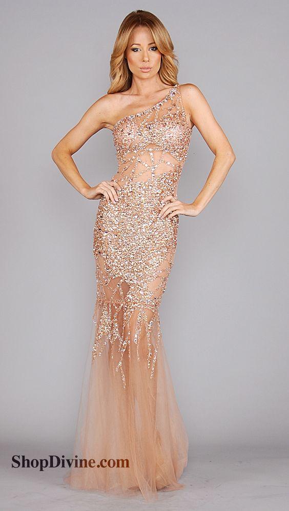 Jovani Rose Gold Sequin Long Dress - prom - Pinterest - Mermaids ...