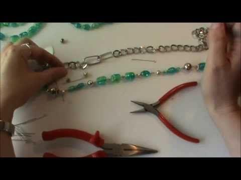 Schmuck selber machen: Kette aus altem Schmuck neu gearbeitet [Upcycling] - YouTube