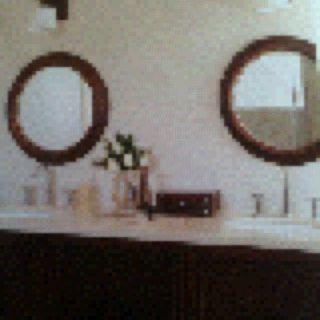 Round mirrors.