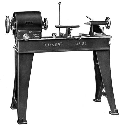 OLIVER 51-A Wood Lathe Instructions and Parts Manual | Ozark Tool Manuals & Books