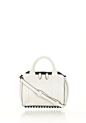 ShopStyle: Alexander Wang Rockie In White Soft Pebble With Matte Black