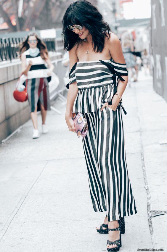 Stuff She Likes: New York Fashion Week in Stripes on Stripes..