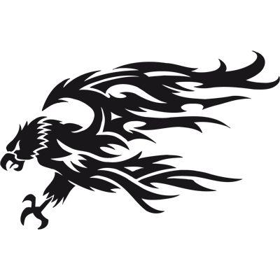 Aguila. Pegatina en vinilo para coche, moto, casco