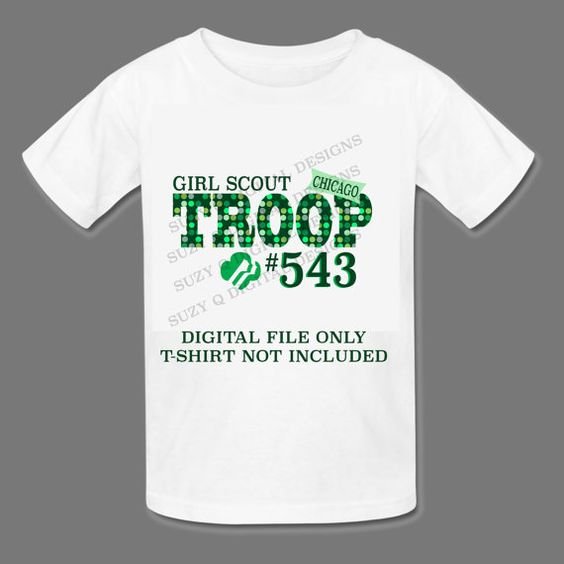 a girl scouts custom troop tshirt or bag by