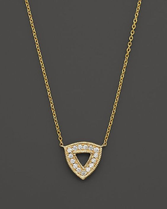 Dana Rebecca Designs 14K Yellow Gold Emily Sarah Necklace with Diamonds, 16""