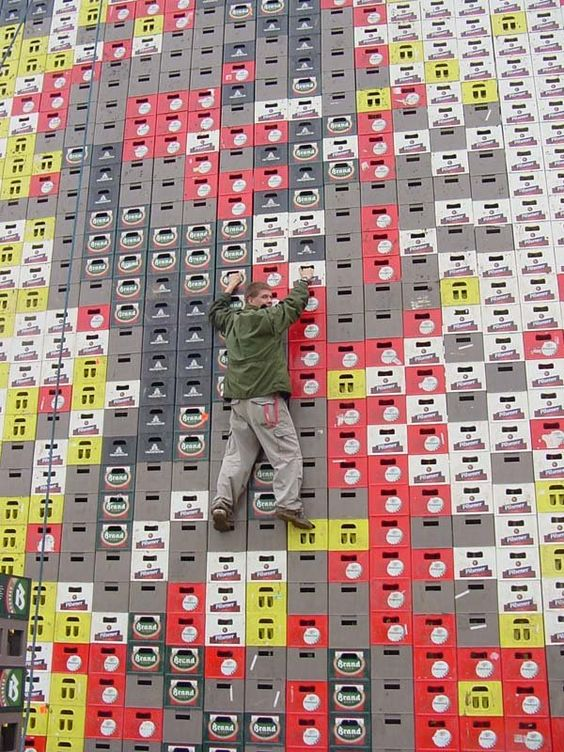 Beer crates.