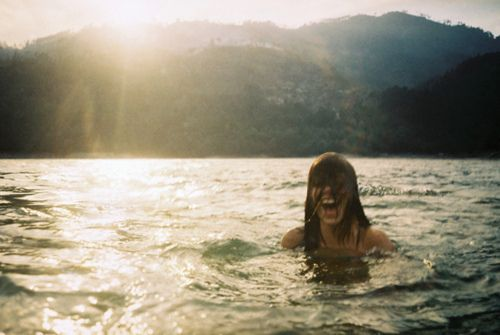 Happiness is... having a dip