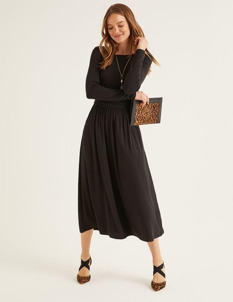 Lucille Jersey Midi Dress Black. Lucille Jersey Midi Dress