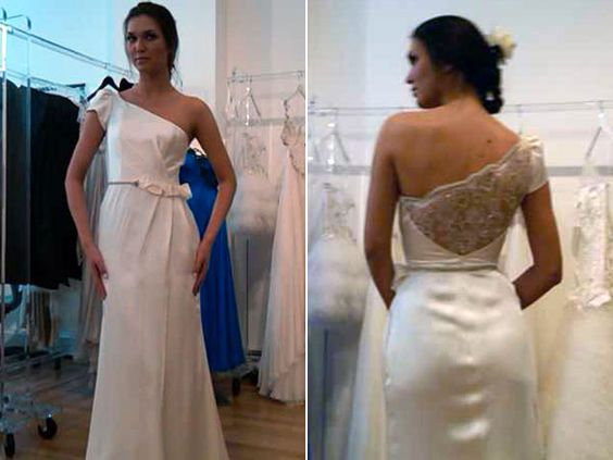 Love this one-shoulder gown by Cocoe Voci!