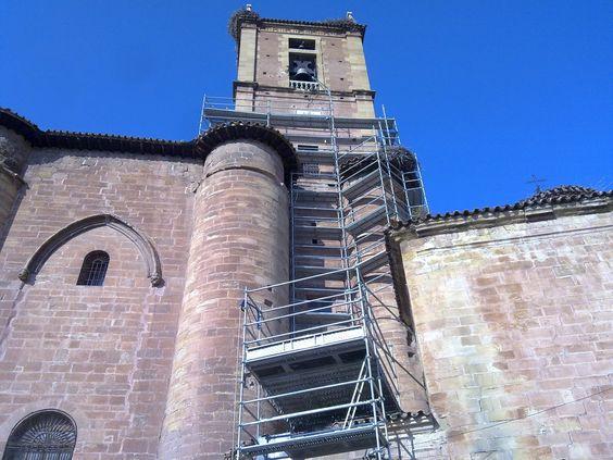 #andamios para el Monasterio de Santa María la Real de Nájera, La Rioja
