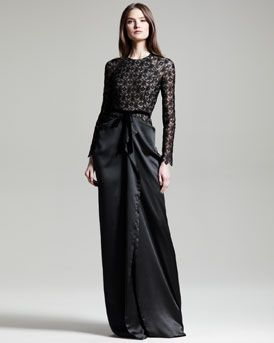 Formal Black Maxi Skirt