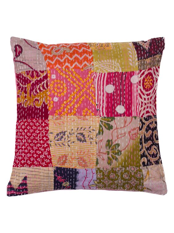 Kantha Handmade Vintage Pillow