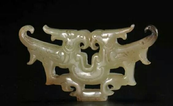 Jade pendant with double-phoenix motif, 5th-4thC BC. Collection of Hubei…