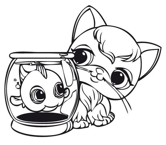 Desenhos para pintar Littlest pet shop 6