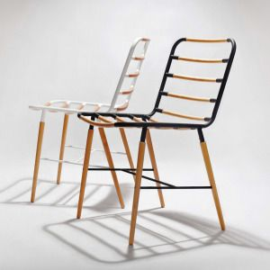 Geek is a minimalist design created by Singapore-based designer Munkii. The chair is constructed of steel with a matte coated finish, and solid wood maple rods that intersect the seat and back rest. (3)