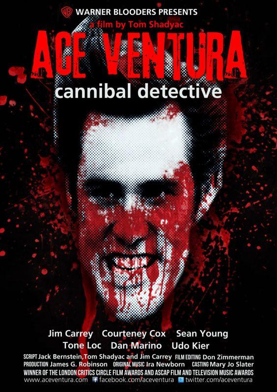 Cartel de terror de la película Ace Ventura.