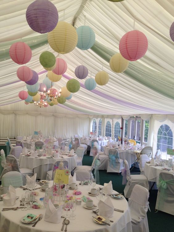 Different Pastel colours creating one amazing marquee design #Pastal #Wedding ... Congratulations to the new Mr and Mrs Marvin: