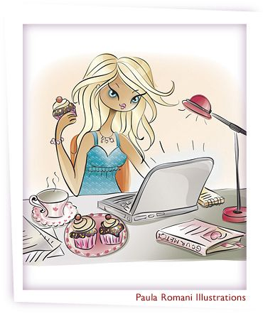 Cupcakes and tea by romaniillustrations, via Flickr