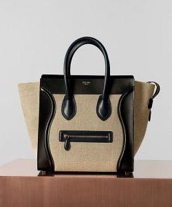 celine luggage bag sale - celine-linen-black-mini-luggage-bag #celine #handbags | Celine ...