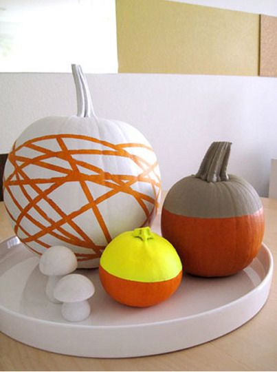 Graphic neon mod pumpkins