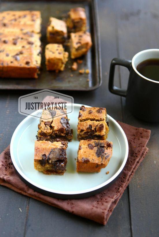 Resep Wafer Blondie Dengan Chocochips Resep Biskuit Memanggang Kue Hidangan Penutup