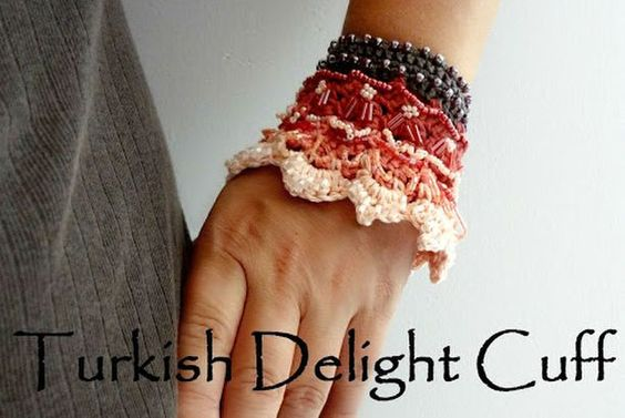 Turkish Delight Cuff - a crochet pattern