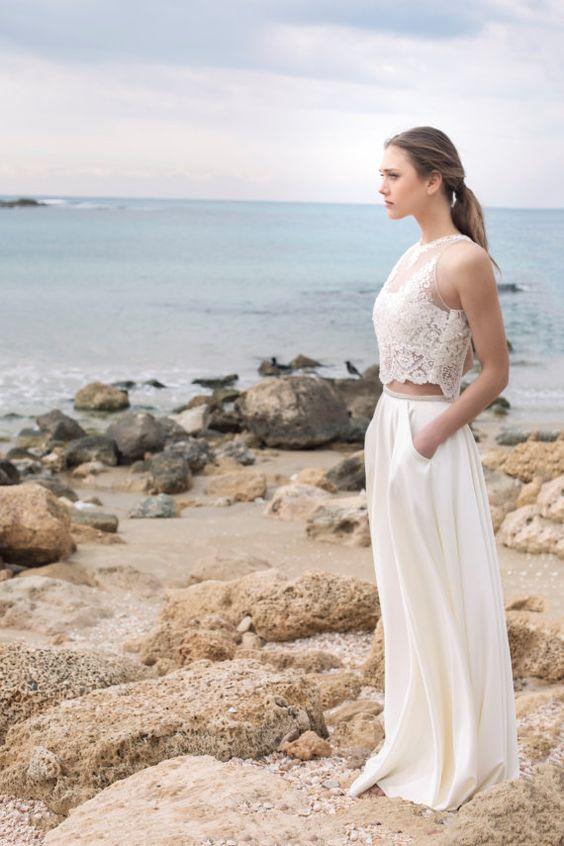 Elegant and 2 Piece Wedding Dress
