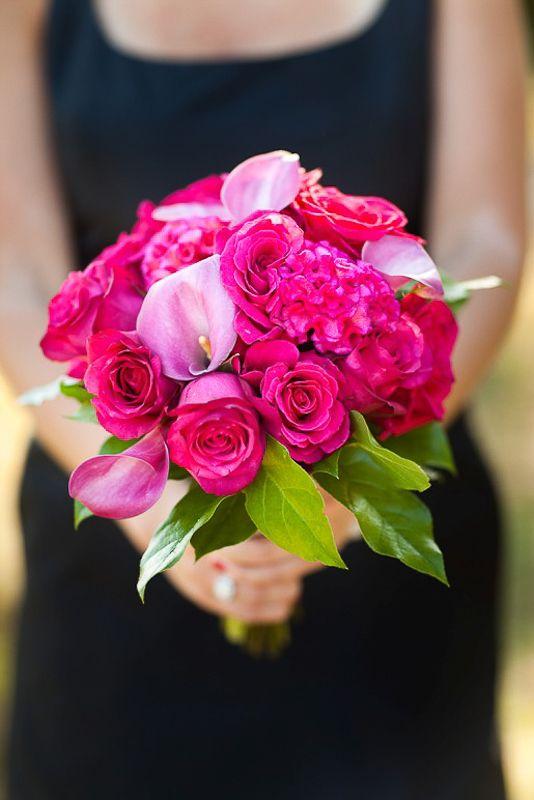 Paleta de Cores - Preto, Branco e Pink | Psiu Noiva