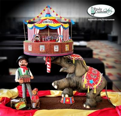 Under The Big Top! By CakeInfatuation/Truly Custom Cakes on CakeCentral.com