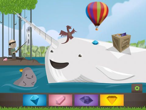 The Great Gem Search ($0.00 on 1/20/14) hide-n-seek adventure game perfect for children ages 2-5. These first 12 levels encourage interaction and spark the imagination through fun animations, great sound effects and playful music.  Shared by @iGameMom