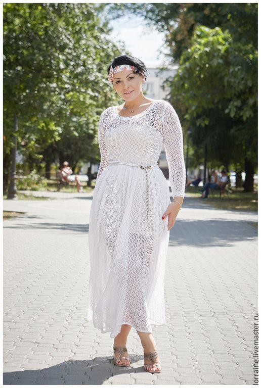 """Купить Платье женское """"По мотивам Чехова..."""" - белый, однотонный, платье, платье женское"""