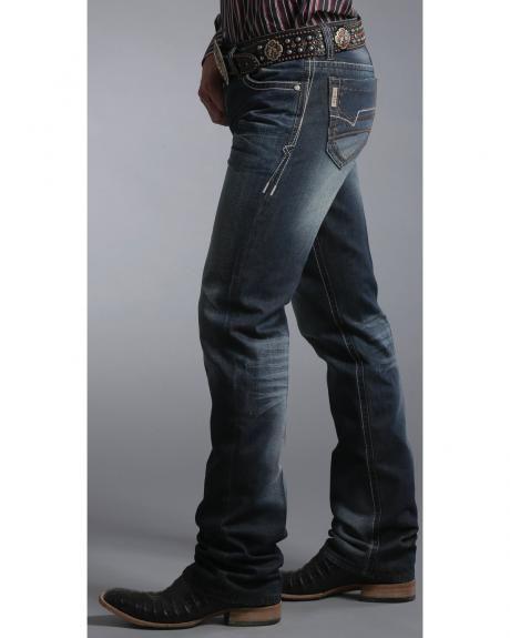Cinch Ian Dark Stonewash Bootcut Jeans - Slim Fit | Cowboy Style