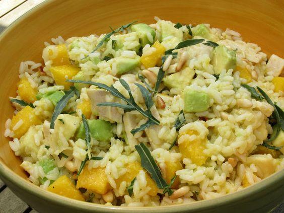 insalataMente: Insalata di riso con mango e pollo.