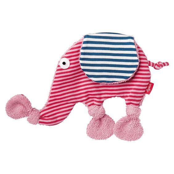 SIGIKID Schnuffeltuch Elefant 19 cm Rosa Blau | Babyartikel.de