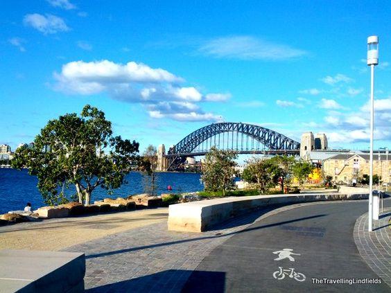 @lynLindfield | Cycling in Sydney: The Harbour Bridge, Barangaroo and Blackwattle Bay