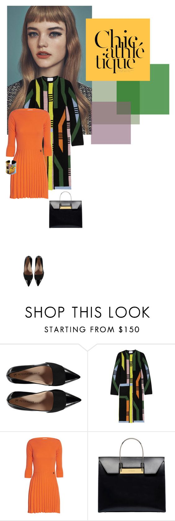 """Orange dress"" by perlarara ❤ liked on Polyvore featuring Peter Pilotto, See by Chloé, Balenciaga and Stella Jean"
