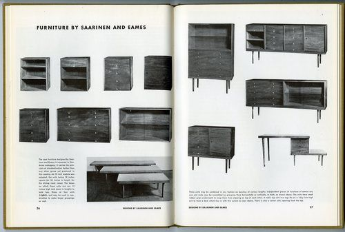 Organic Design in Home Furnishings, MoMA and Bloomingdales, 1944 ...