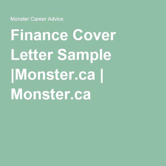 Finance Cover Letter SampleMonsterca Monsterca Career - cover letter for career change