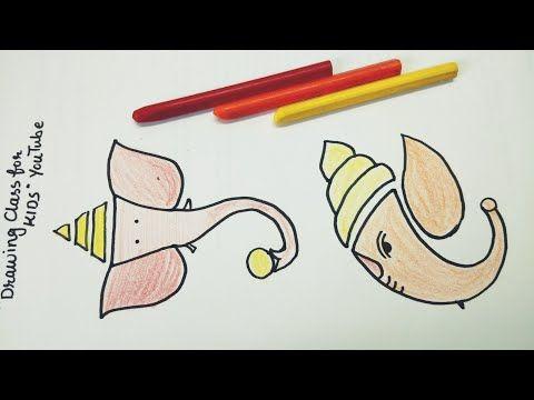 Youtube Ganpati Face Drawing Video Youtube Ganpati Drawings And Color Simple Ganpati Drawing With Step By Step Expl Ganpati Drawing Ganesha Drawing Drawings